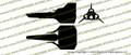 Battlestar Galactica 1978 Viper Mark I 3-View Vinyl Die-Cut Sticker / Decal VSBSGM13V