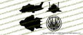 Battlestar Galactica Raptor 3-View Vinyl Die-Cut Sticker / Decal VSBSGR3V