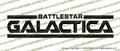 Battlestar Galactica 1978 Credits Vinyl Die-Cut Sticker / Decal VSBSG1978