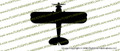 WWII Naval Aircraft Factory N3N  Training Biplane Top Vinyl Die-Cut Sticker / Decal VSTN3N