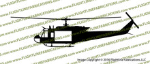 "Bell UH-1H ""Huey"" Iroquois U.S. Military Helicopter Profile Vinyl Die-Cut Sticker / Decal VSPUH1H"