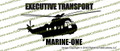 VH-3D Marine One Executive Transport Helicopter Profile Vinyl Die-Cut Sticker / Decal VSPVH-3DM1