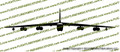B-52 Stratofortress Bomber Vinyl Die-Cut Sticker / Decal VSB52F
