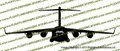 C-17 Globemaster Front Vinyl Die-Cut Sticker / Decal VSC17F