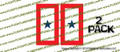 1 Blue Star Mother Military Service Flag Sticker