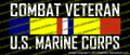 Combat Veteran USMC US Marine Corps Vinyl Die-Cut Sticker / Decal VSCVCB
