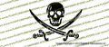 Jolly Roger Jack Rackham Pirate Vinyl Die-Cut Sticker / Decal VSJR1