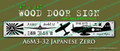 Legend Flyers WWII Mitsubishi A6M3 32 Japanese Zero Wood Door Sign v1