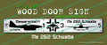 Legend Flyers WWII Messerschmitt ME-262 Wood Door Sign v1