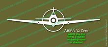 Legend Flyers A6M3 32 Japanese Zero Vinyl Die-Cut Sticker / Decal LFJZF