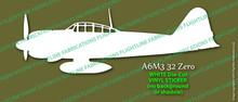 Legend Flyers A6M3 32 Japanese Zero PROFILE Vinyl Die-Cut Sticker / Decal LFJZP