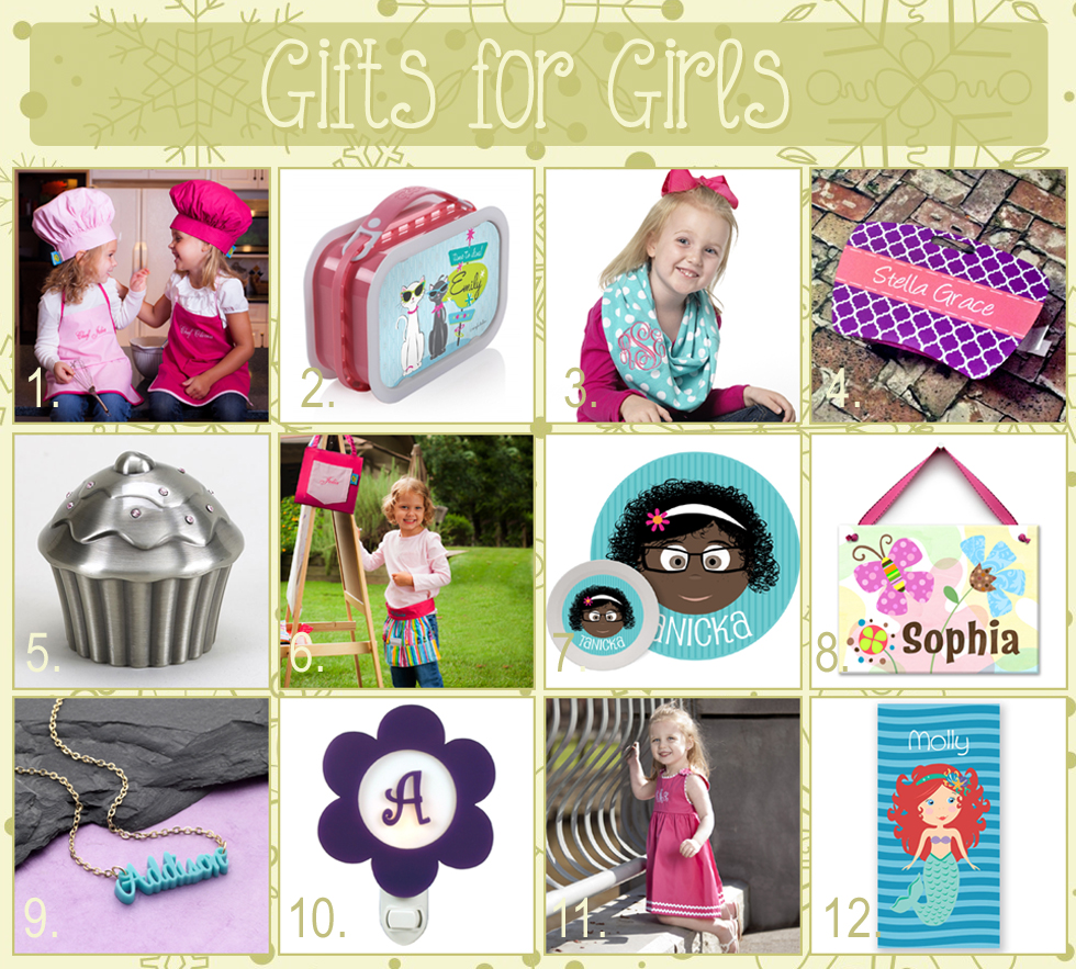 12 days of christmas - gift ideas for girls