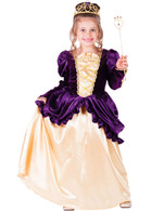 Purple Belle Ball Gown Princess Costume - Dress, Crown & Wand