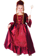 Burgundy Belle Ball Gown Princess Costume - Dress, Headpiece & Wand