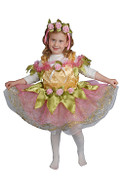 Ballerina Dress Up Costume with Flowers - Dress & Headpiece