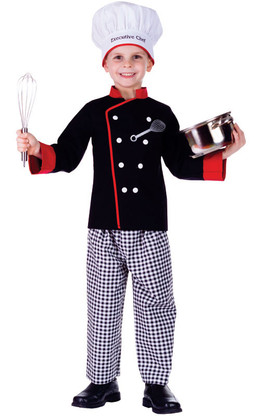 Boy Executive Chef Dress Up Costume - Chef Coat, Pants & Hat