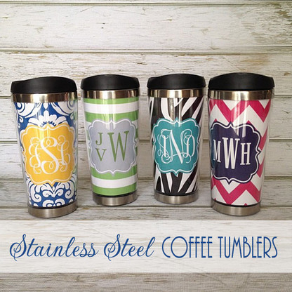 stainless steel cute personalized travel mug 18oz
