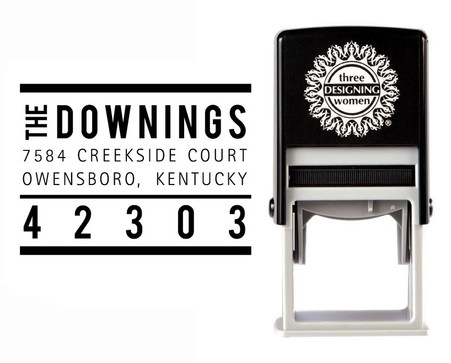 Self-Inking Personalized Tree Design Address Stamp - CS3653