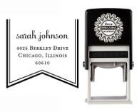 Self-Inking Personalized Tree Design Address Stamp - CS3656