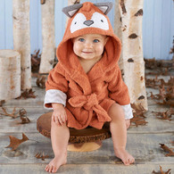 """Rub-a-Dub, Fox in a Tub"" Hooded Baby Terrycloth Bath Spa Robe"