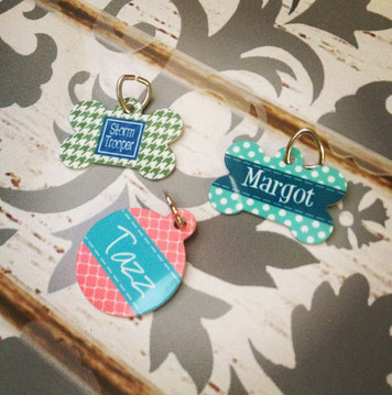 Cute Pet Tags - Personalized Metal Dog & Cat Collar Tags