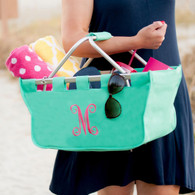 Monogram Mint Collapsible Market Tote