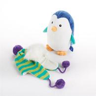 """Ice Caps"" Penguin Plush Stuffed Animal & Knit Cap Hat for 0-6 mo Baby Baby Shower Gift Set - Baby Aspen BA11039NA"