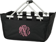 Black Collapsible Market Tote
