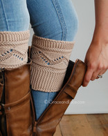able Knit Boot Cuff in Natural