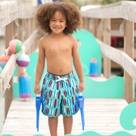 Toddler Swim Trunks with Surfboard Design