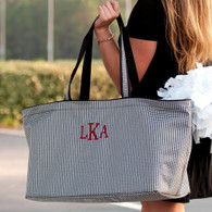 Monogrammed Ultimate Tote with Houndstooth Print