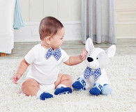 Baby Aspen Oscar In His Oxfords Plush Plus Puppy With Socks Gift Set