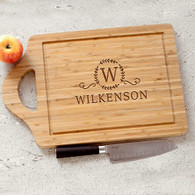 Large Family Bamboo CUTTING BOARD Personalized Engraved Monogram Gift