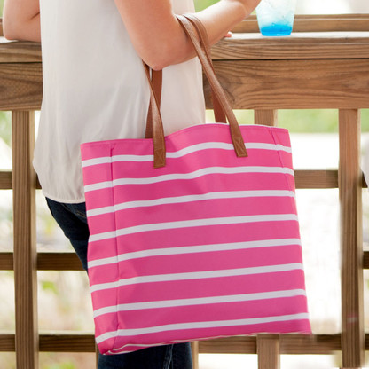 Stripe Collection Hot Pink Tote