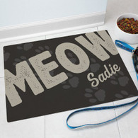 "Personalized ""MEOW"" Cat Themed Door Mat"