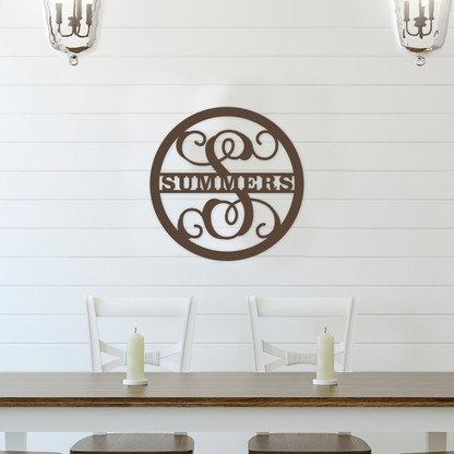 Family Name Monogram Wall Accent