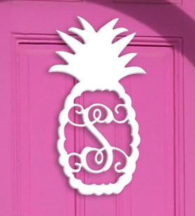 Single Initial Monogram Pineapple