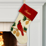Personalized Cardinal Design Stocking