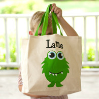 Monster Canvas Halloween Tote Bag