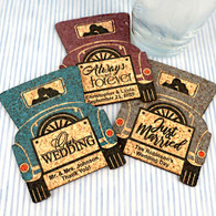 Personalized Vintage Car Personalized Wedding Cork Coasters