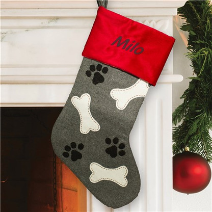 Personalized Paw & Bones Dog Stocking
