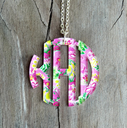 Circle Monogram Pendent Necklace - Mary Beth Goodwin Pattern
