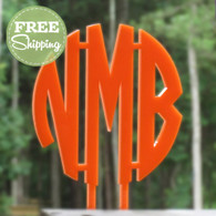 Custom Engraved Circle Monogram Cake Topper - FREE Shipping