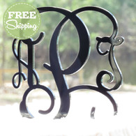 Custom Engraved Vine Monogram Acrylic Cake Topper - Free Shipping