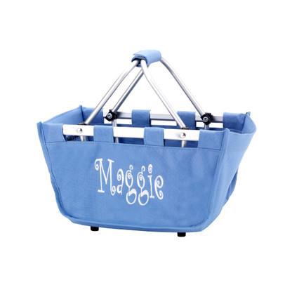 Blue Hydrangea Personalized Market Tote
