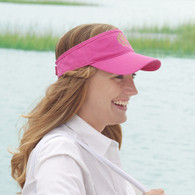 Monogrammed Hot Pink Cotton Twill Visor