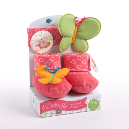 Butterfly Baby Headband & Booties Gift Set