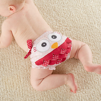 """""""Whoo's the Cutest?"""" Pink Owl Baby Bloomer Diaper Cover"""