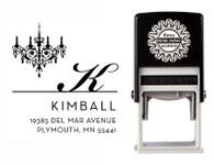 Self-Inking Chandelier Personalized Address Stamp - CS3639