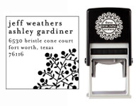 Self-Inking Personalized Address Stamp with Botanical Design - CS3640